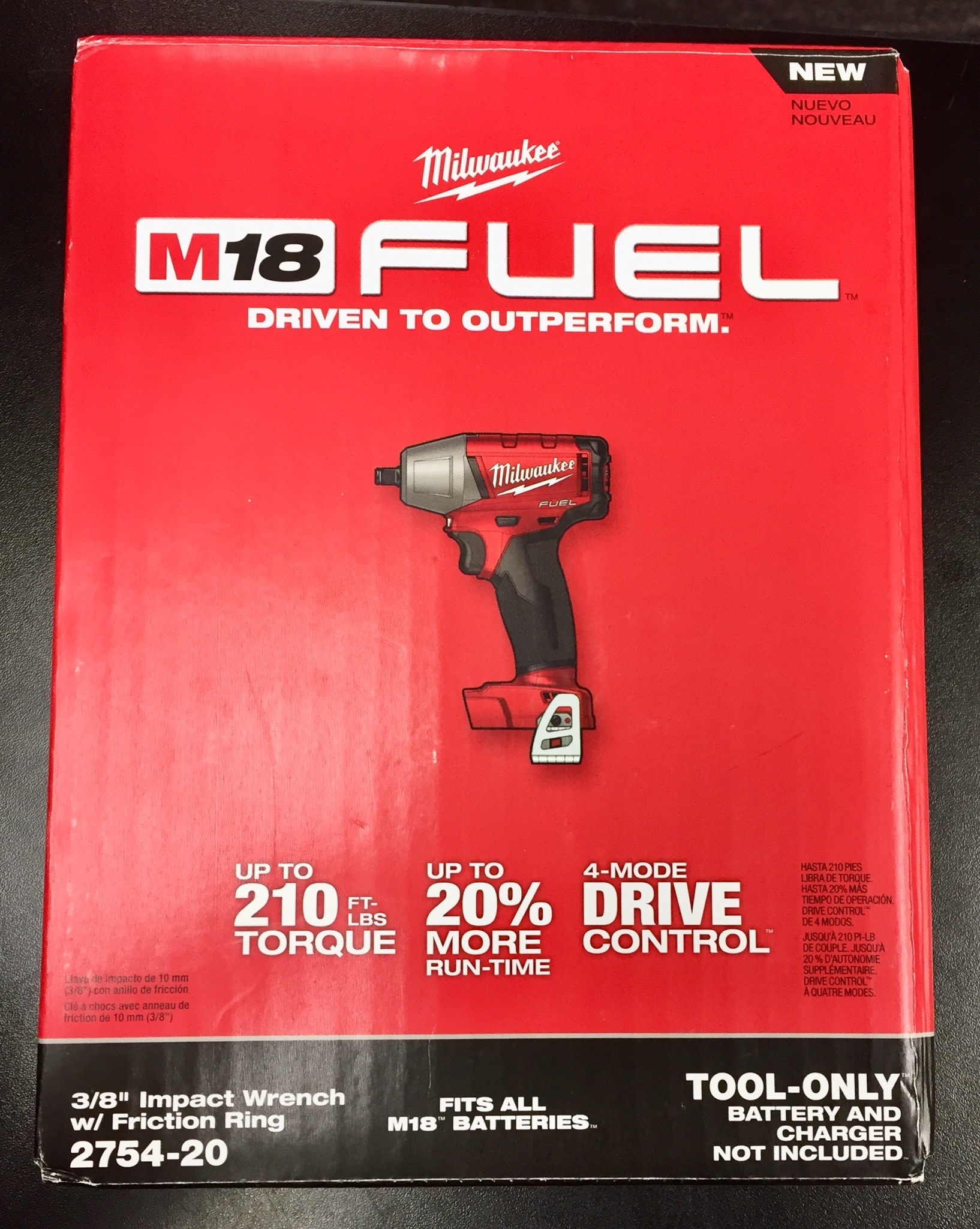 "New - Milwaukee M18 FUEL 18-Volt 3/8"" Compact Impact Wrench - 2754-20"