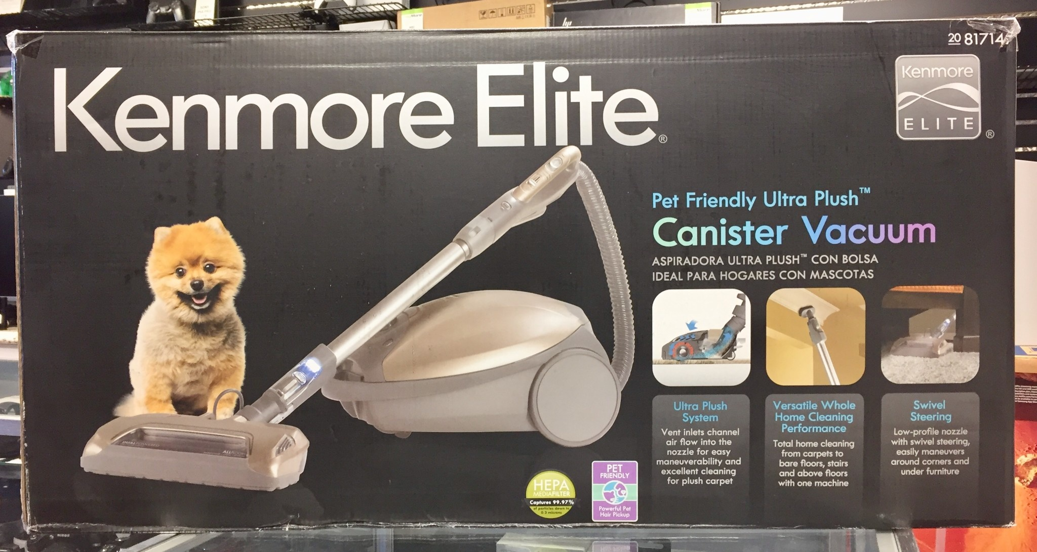 New - Kenmore Elite 81714 Allergy Friendly Ultra Plush Pet Canister Vacuum