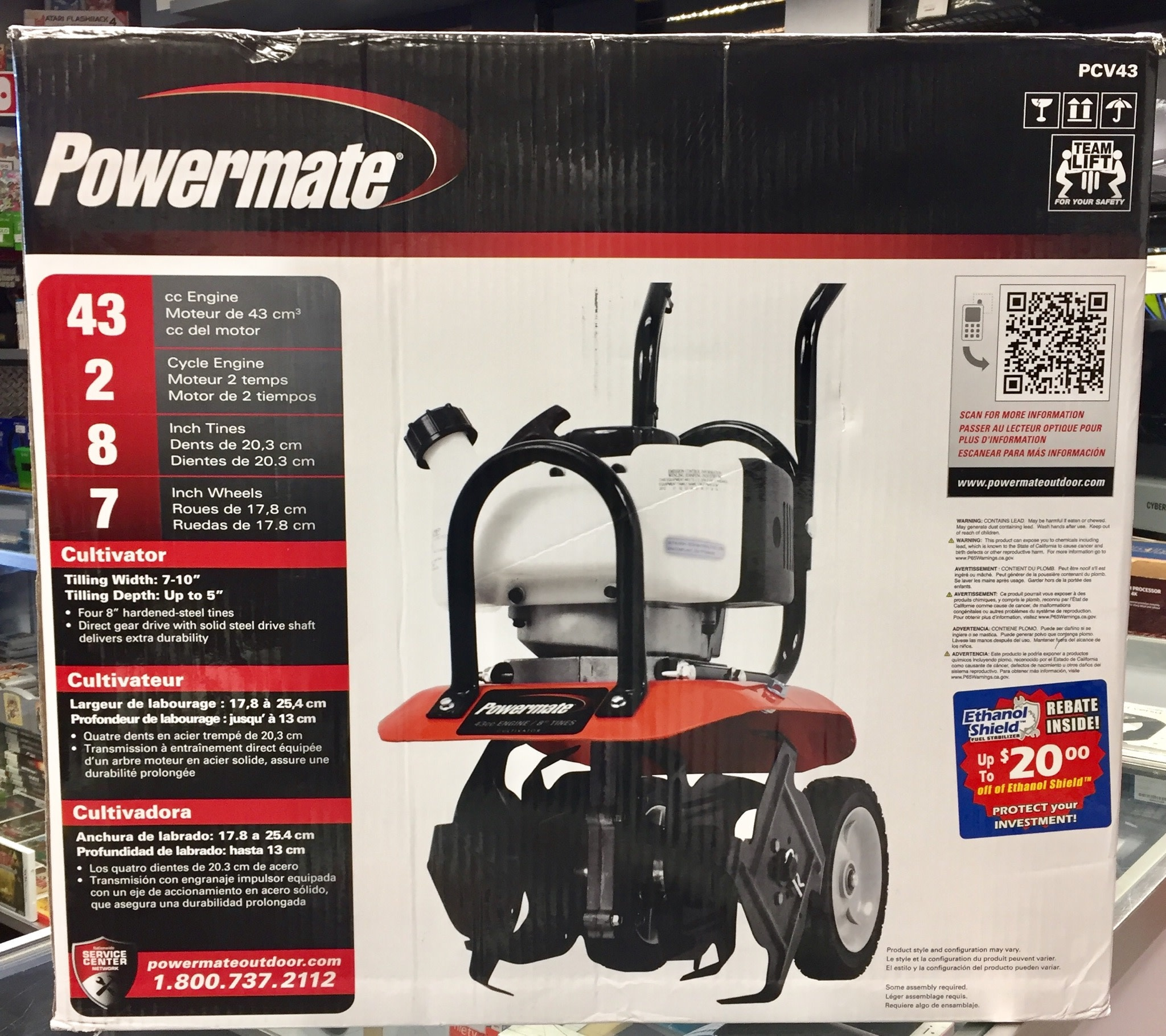 Powermate PCV43 - 43cc Engine Gas 2-Cycle Cultivator - New Open Box