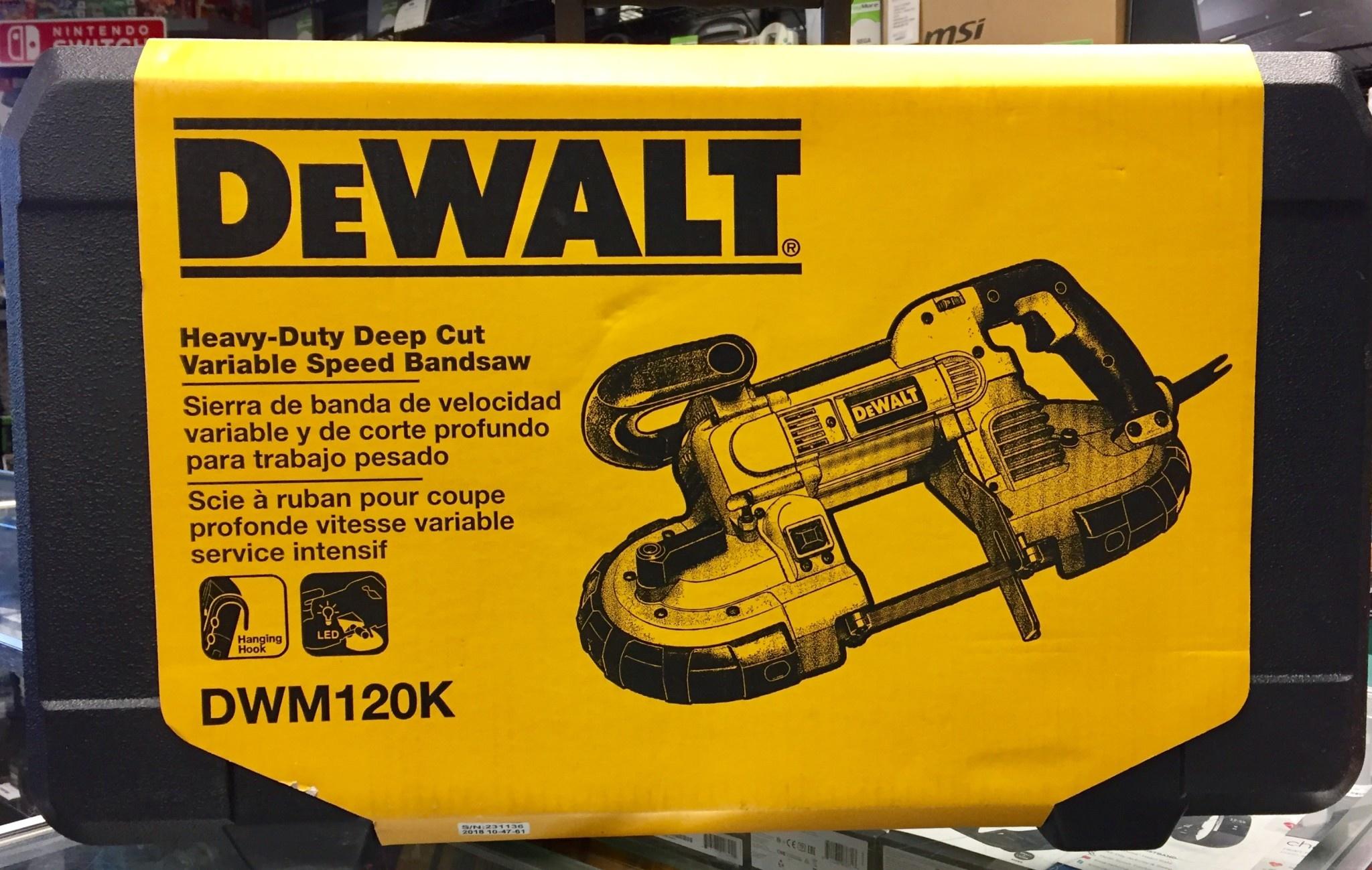 New - DeWALT DWM120K Variable-Speed Deep Cut Portable Band Saw