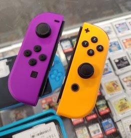 Nintendo Switch JoyCon Controller Pair - Neon Orange & Purple - Pre-Owned