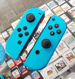 Nintendo Switch JoyCon Controller Pair - Neon Blue (L) & Blue (R) - Pre-Owned