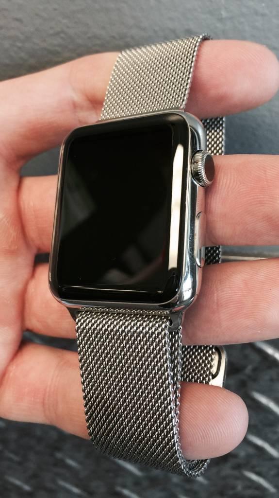 Apple Watch Series 7000 - 42mm - Stainless Steel w/ Genuine Milanese Loop Band