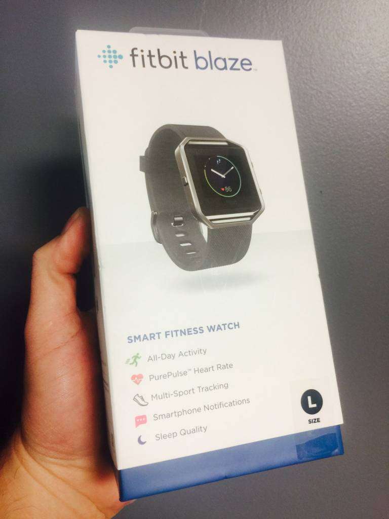 FitBit Blaze Smart Fitness Watch - Stainless Steel Black - Large - New In Box