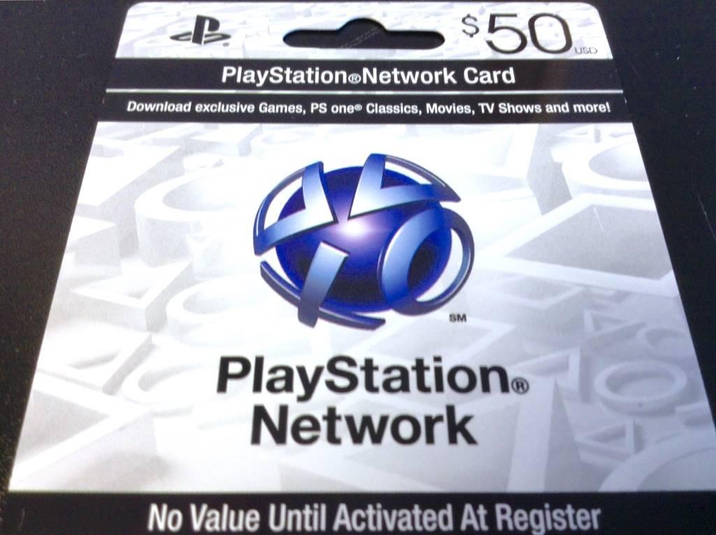 Playstation Network/Store PSN Card - $50