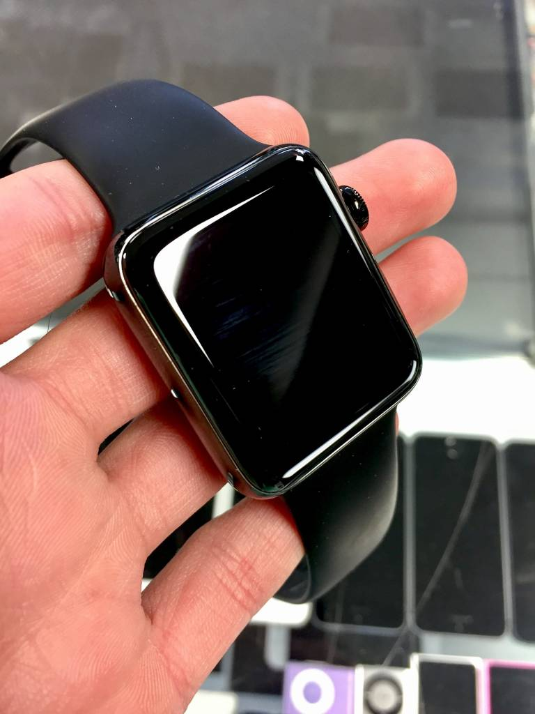Apple Watch Series 2 - 42mm - Black Stainless Steel Black - M/L Sport Band