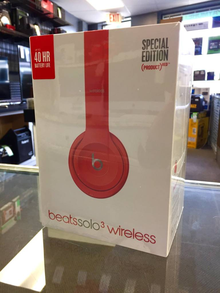 Used In Box  - Beats by Dre Solo 3 - Product Red Edition - Wireless Headphones