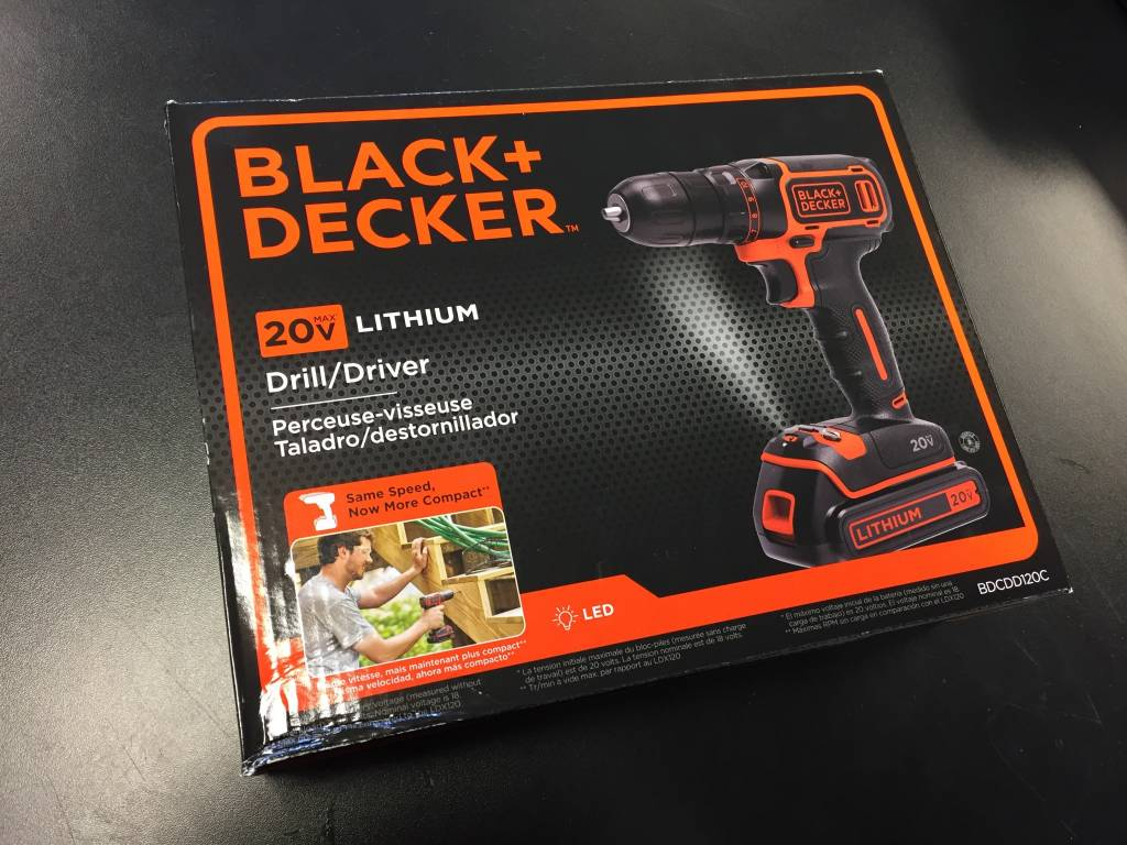 Black & Decker 20v Cordless Drill/Driver- New in Box