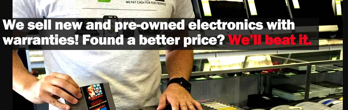 We sell electronics with price beating & warranties!