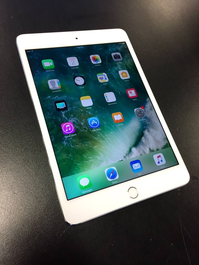 Apple iPad Mini 4 - 128GB - White/Silver