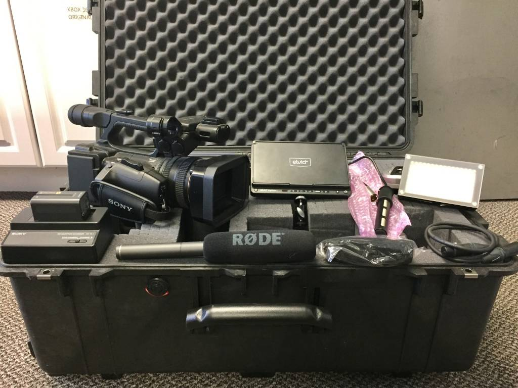 Mint Condition Sony HXR-NX5U Pro Camcorder Bundle w/ Pelican Case