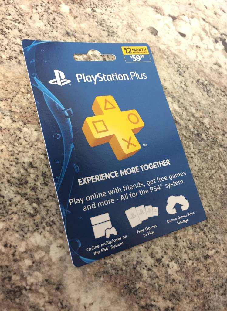 Sony PlayStation Plus Network 12 Month Membership Gift Card - $60