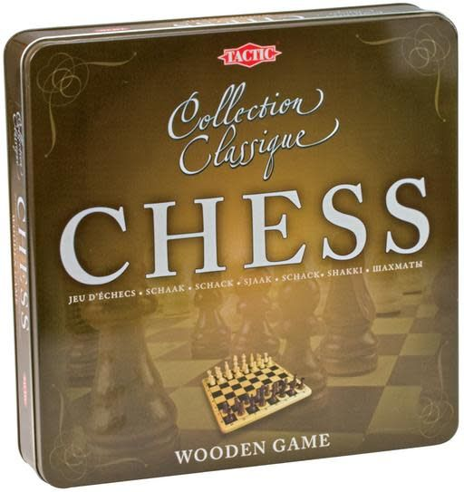 CHESS WOODEN GAME TIN