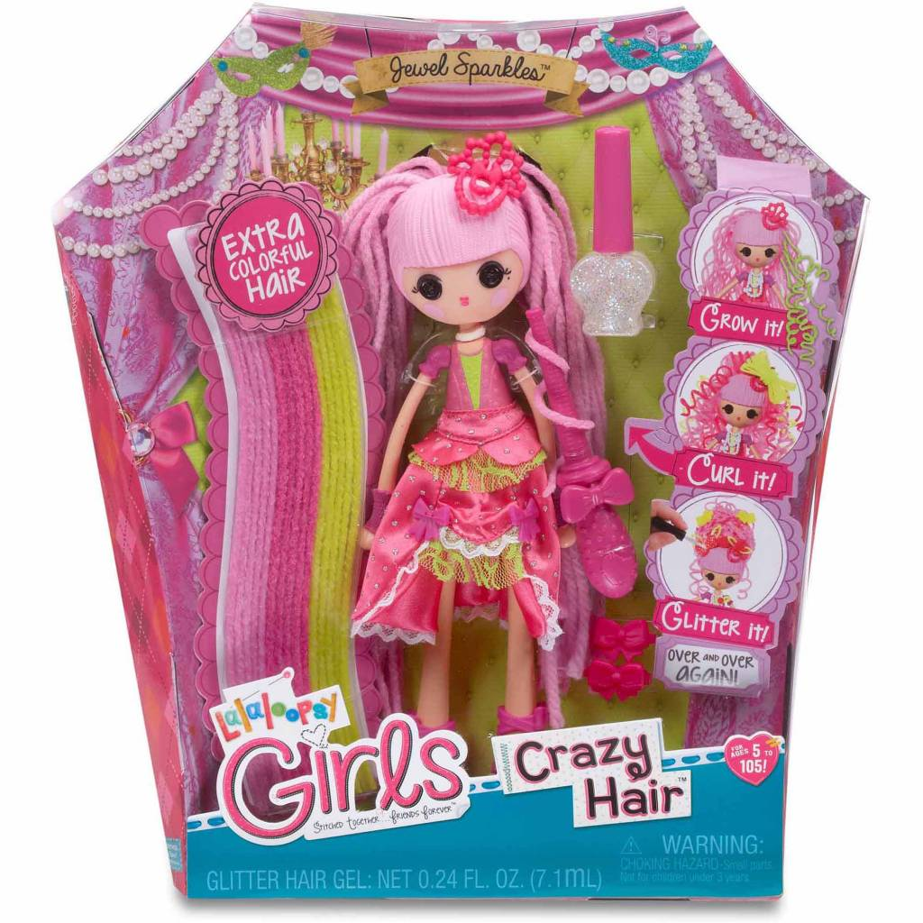 Lalaloopsy Jewel Sparkles Pink Wig Dress-Up Accessory Child Girl Toy Wig Ages 3+