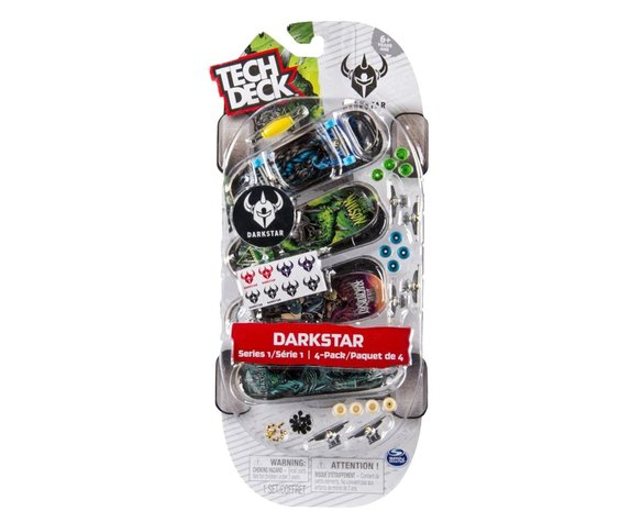 TECH DECK 4 PACK DARKSTAR