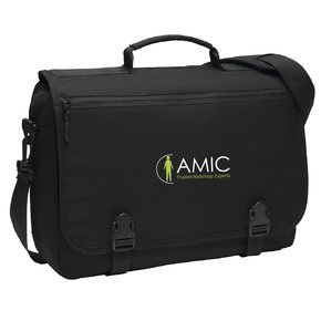 Port Authority Port Authority Messenger Briefcase (Black)