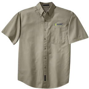 Port Authority Port Authority Short Sleeve Twill Shirt (Khaki)