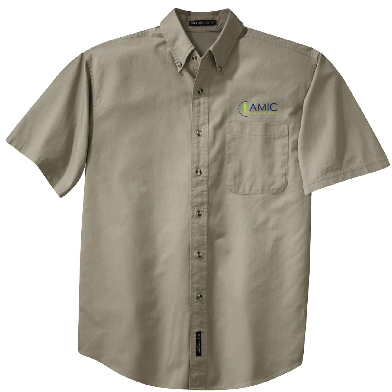 Port Authority Port Authority Short Sleeve Twill Shirt (Khaki)