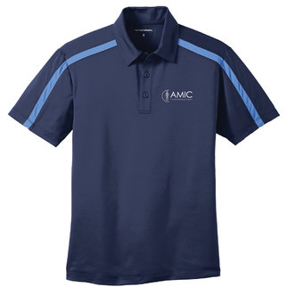 Port Authority Port Authority Silk Touch Performance Colorblock Stripe Polo (Navy/Carolina Blue)