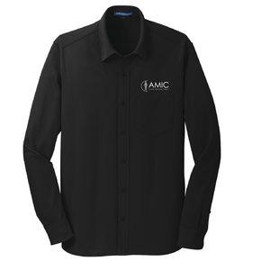 Port Authority Port Authority Dimension Knit Dress Shirt (Black)