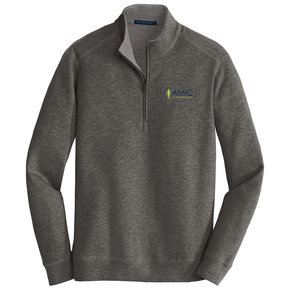 Port Authority Port Authority Interlock 1/4 Zip (Charcoal Heather/Medium Grey Heather)