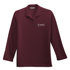 Port Authority Port Authority Ladies Silk Touch Long Sleeve Polo (Burgundy)