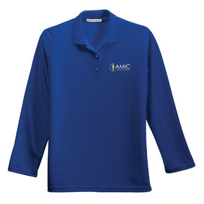 Port Authority Port Authority Ladies Silk Touch Long Sleeve Polo (Royal)