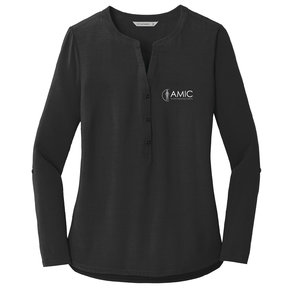 Port Authority Port Authority Ladies Concept Henley Tunic (Black)