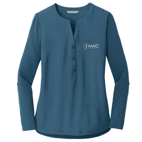 Port Authority Port Authority Ladies Concept Henley Tunic (Dusty Blue)