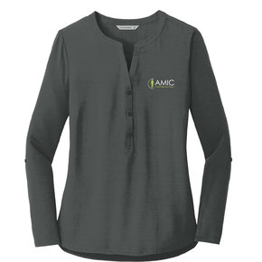 Port Authority Port Authority Ladies Concept Henley Tunic (Grey Smoke)