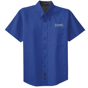 Port Authority Port Authority Short Sleeve Easy Care Shirt (Royal/Classic Navy)