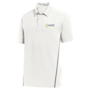 Sport Tek Sport-Tek Contrast PosiCharge Tough Polo (White/Heather Grey)