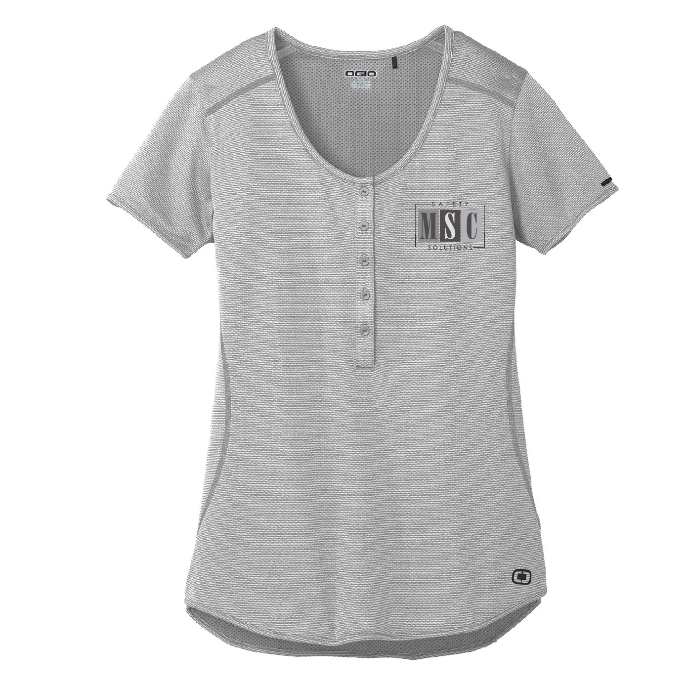 Ogio Ogio Ladies Orbit Henley (Rogue Grey/White)