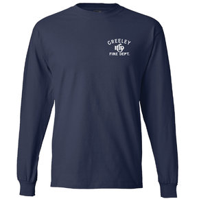 Hanes Hanes Adult Long-Sleeve T-Shirt (Navy)