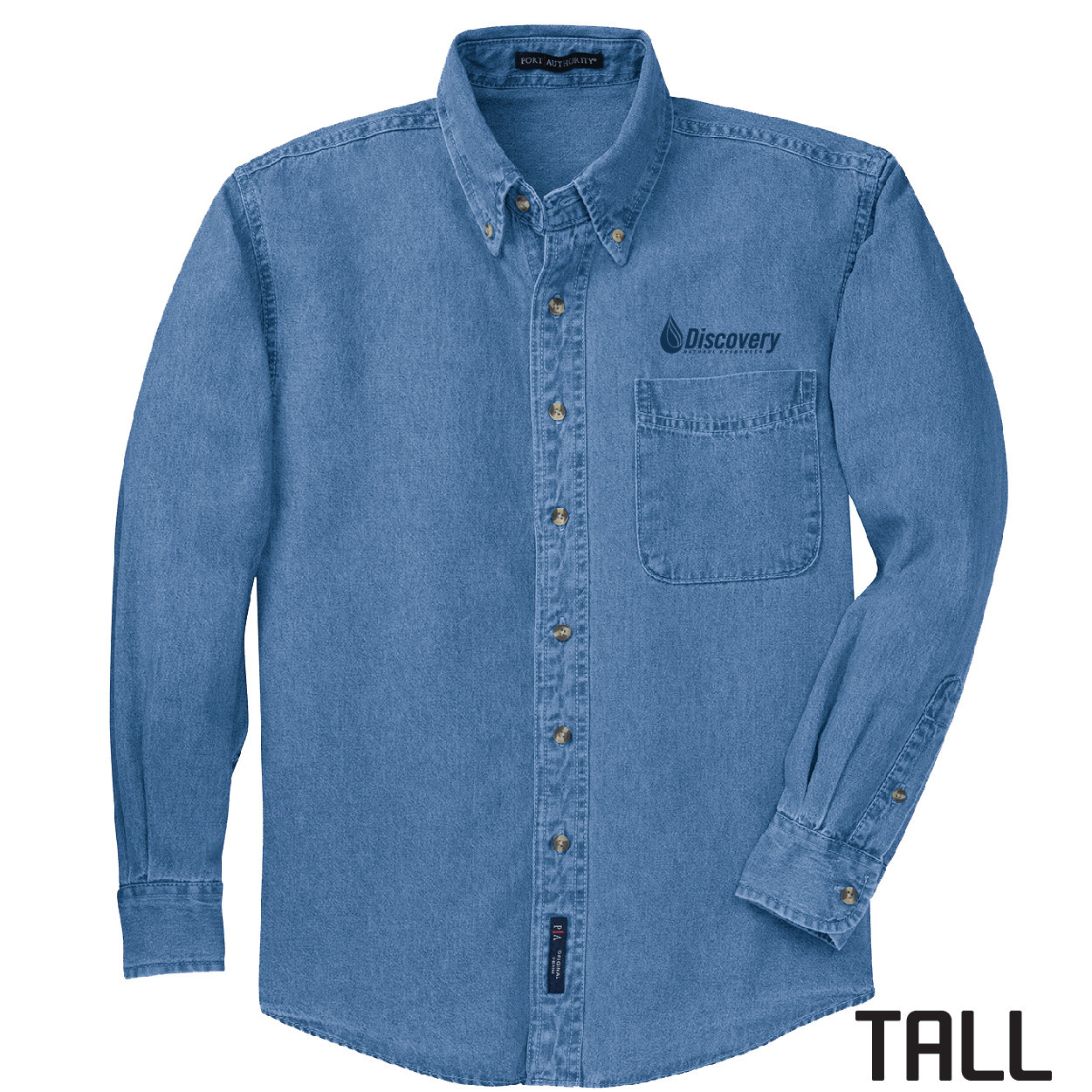 Port Authority Port Authority TALL Long Sleeve Denim Shirt (Faded Blue)