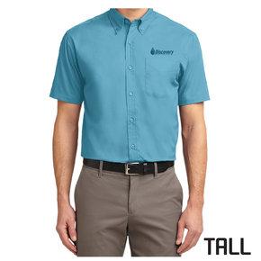 Port Authority TALL Short Sleeve Easy Care Shirt (Maui Blue)