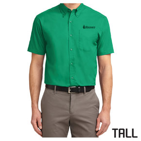 Port Authority TALL Short Sleeve Easy Care Shirt (Court Green)