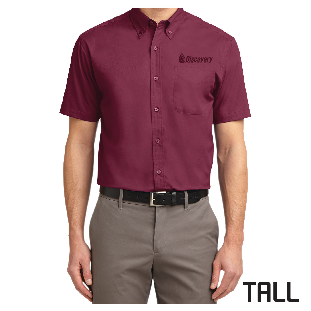 Port Authority Port Authority TALL Short Sleeve Easy Care Shirt (Burgundy/Light Stone)