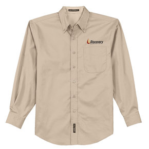 Port Authority Long Sleeve Easy Care Shirt (Stone)