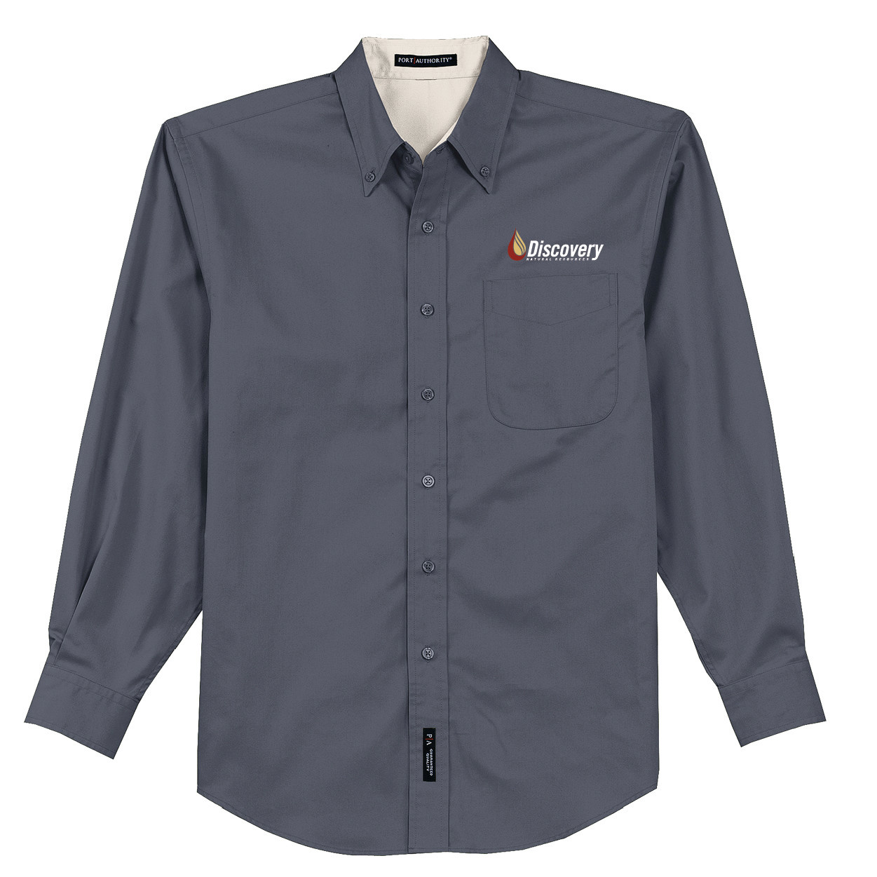 Port Authority Port Authority Long Sleeve Easy Care Shirt (Steel Grey/Light Stone)