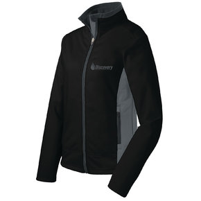 Port Authority Port Authority Ladies Two Tone Soft Shell Jacket (Black/Graphite)