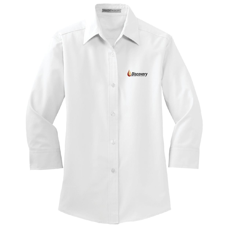 Port Authority Port Authority Ladies 3/4 Sleeve Easy Care Shirt (White)