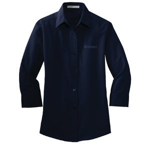 Port Authority Port Authority Ladies 3/4 Sleeve Easy Care Shirt (Navy)