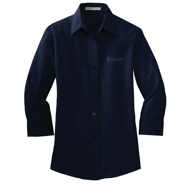 Port Authority Port Authority Ladies 3/4 Sleeve Easy Care Shirt (Navy)
