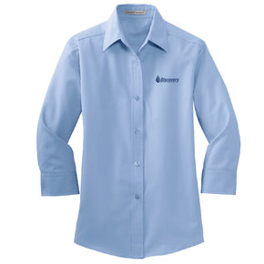 Port Authority Port Authority Ladies 3/4 Sleeve Easy Care Shirt (Light Blue)