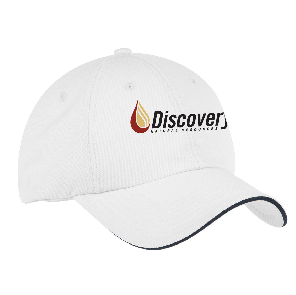 Port Authority Port Authority Dry Zone Cap (White/Classic Navy)