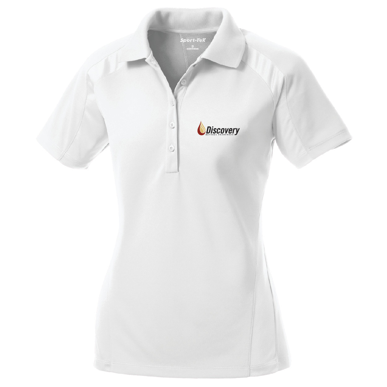 Sport Tek Sport Tek Ladies Dri Mesh Pro Polo (White)