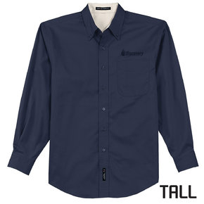 Port Authority Port Authority TALL Long Sleeve Easy Care Shirt (Navy)
