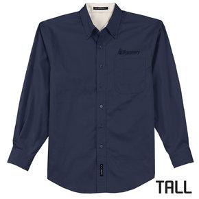 Port Authority TALL Long Sleeve Easy Care Shirt (Navy)