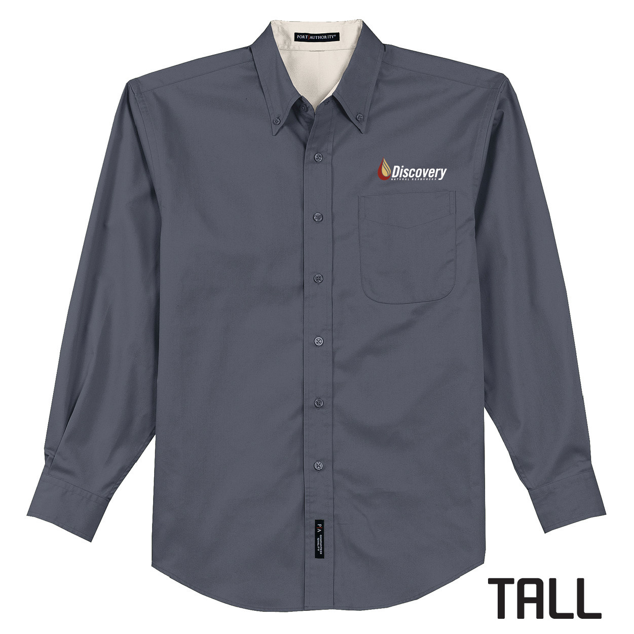 Port Authority Port Authority TALL Long Sleeve Easy Care Shirt (Steel Grey)